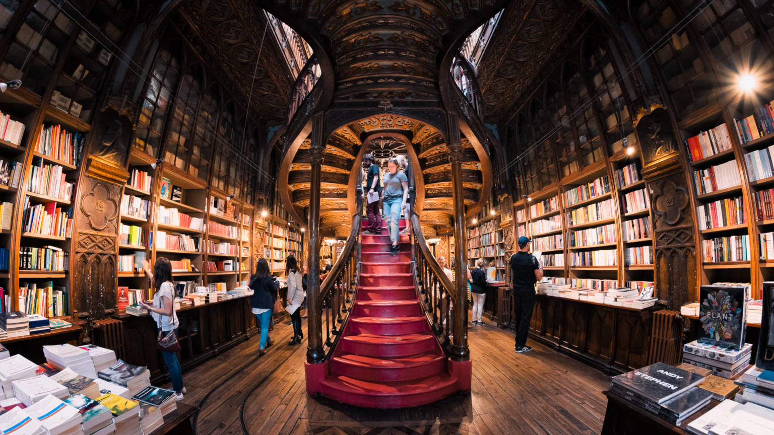 staircase at the lello library