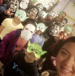 DonorsChoose teacher with students
