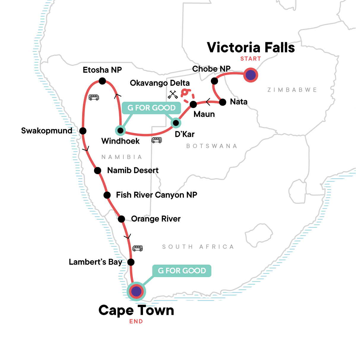 Southern Africa 2021 Map