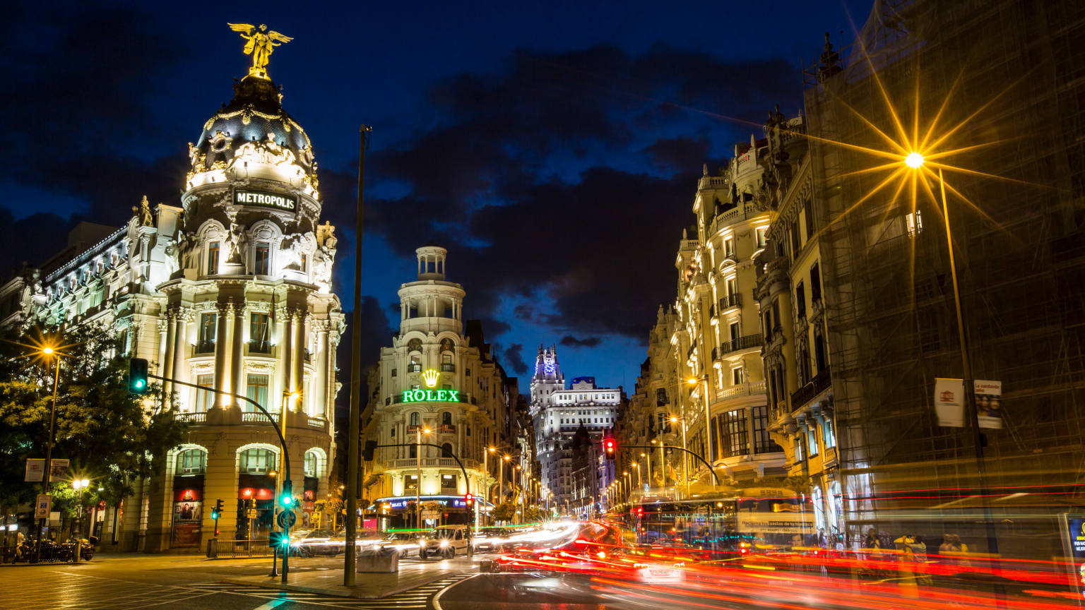 Spain-Madrid-City-Streets-Night
