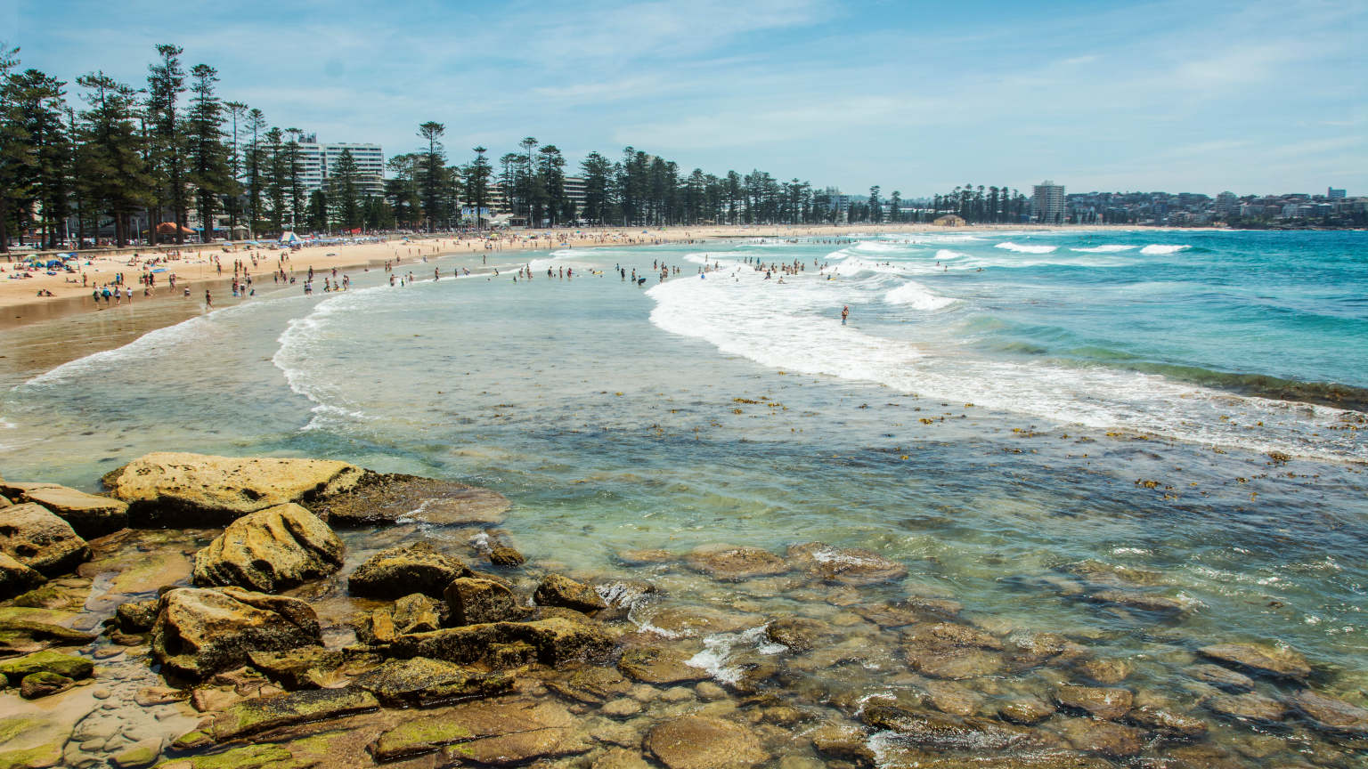 Day trip to Manly Beach from Sydney's CBD.