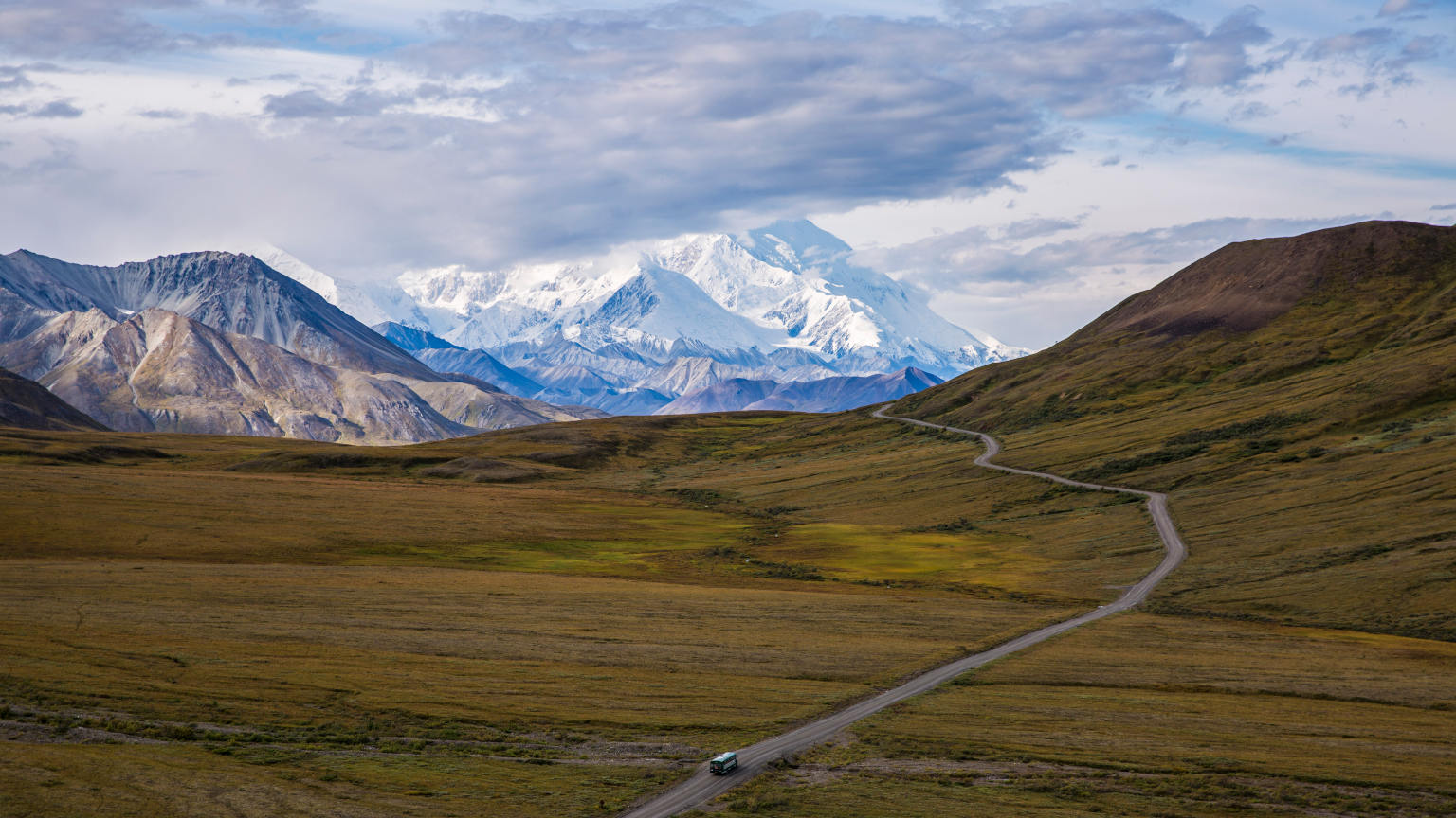 Alaska Denali National Park Mountain Road