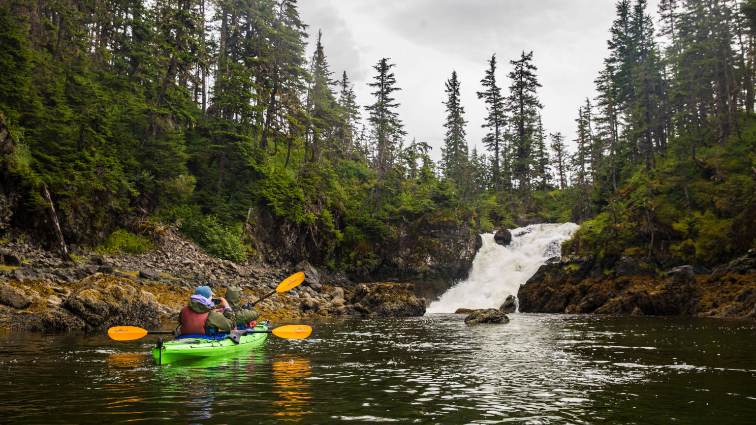Alaska Valdez Sea Kayaking Waterfall