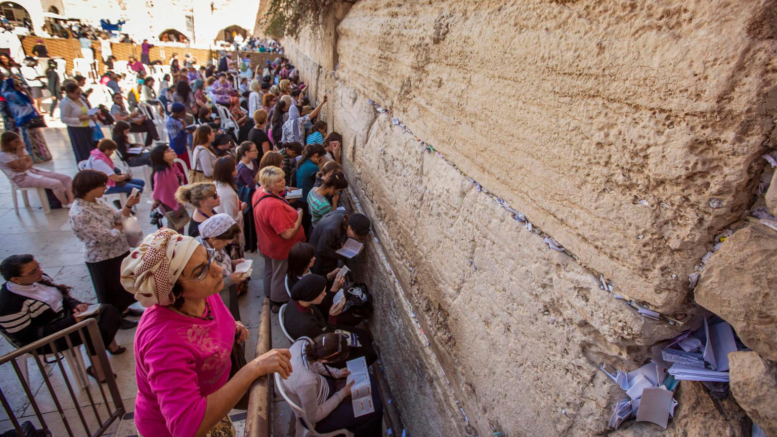 Israel Cropped Jerusalem Wailing Wall Religious Locals