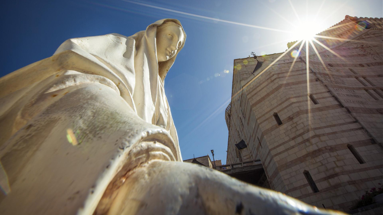 Israel Cropped Nazareth Mother Mary Statue