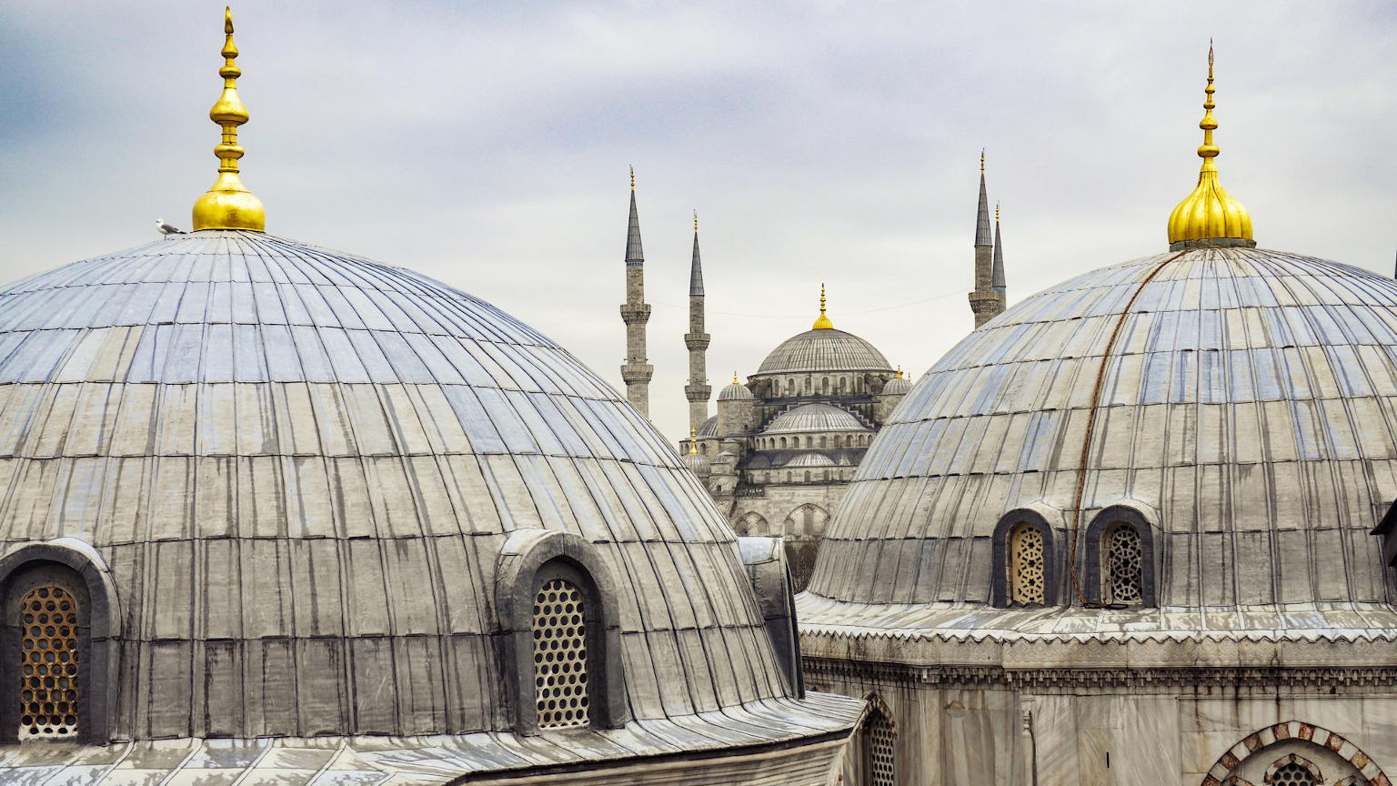 Turkey Istanbul Blue Mosque View Cropped