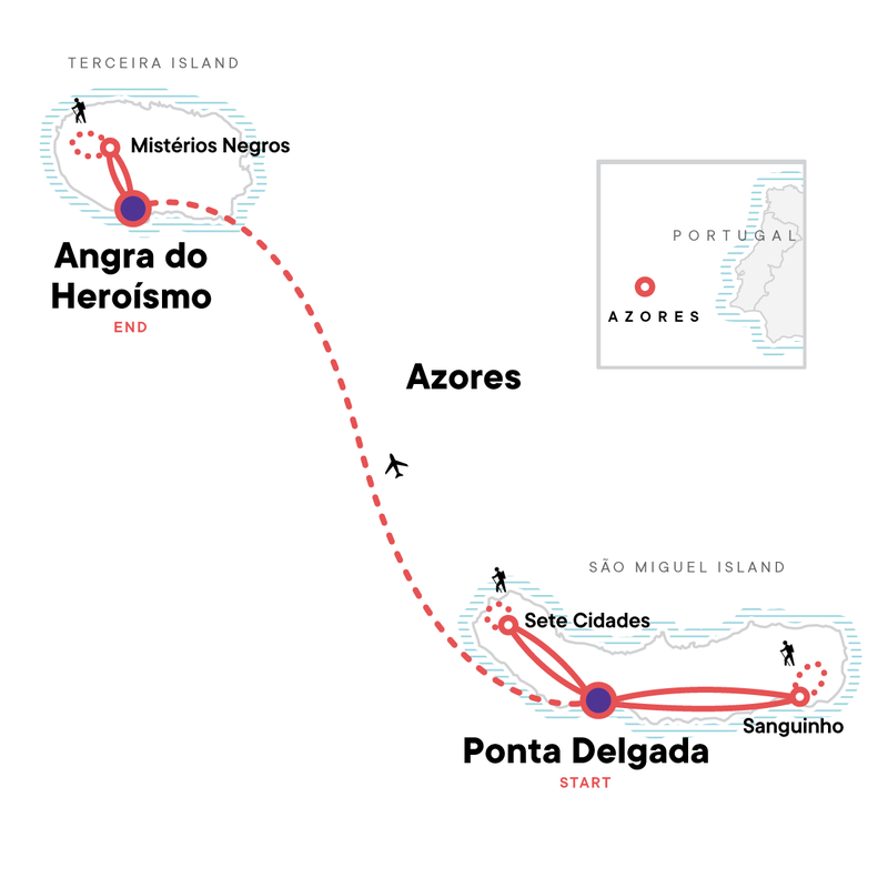 Azores map 2022